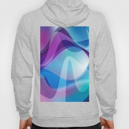 Blue And Purple Wavy Swirl Hippie Abstract Design Hoody