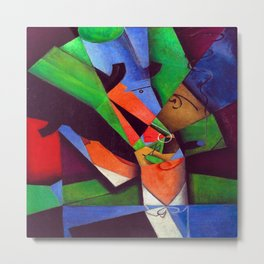 Juan Gris The Smoker Metal Print
