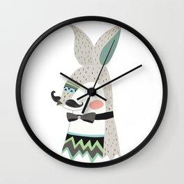 Bunnies art printable Wall Clock