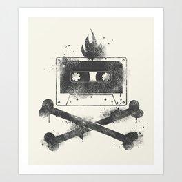 rock mixtape Art Print