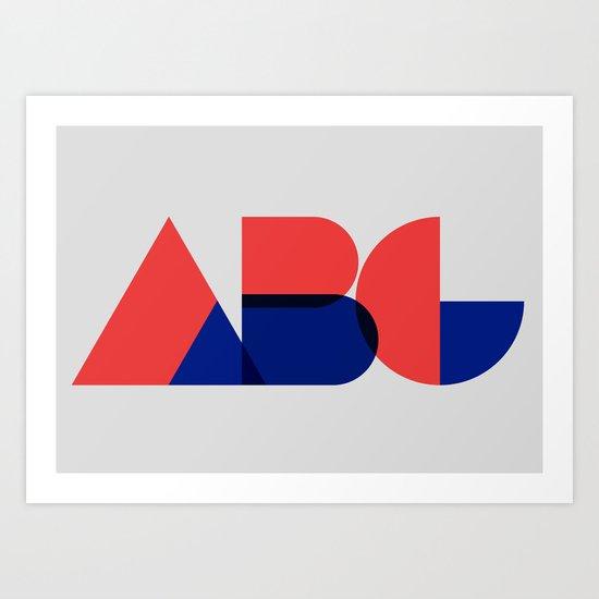 Geometric ABC Art Print