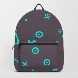 Happy Particles - Grey Backpack