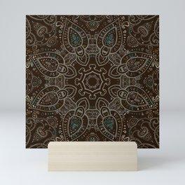 Earth Tones Paisley Mandala Mini Art Print
