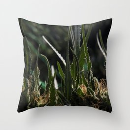 Red Hash Throw Pillow