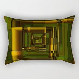 Corridors of Gold Rectangular Pillow
