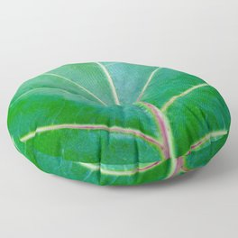 Green Leaf Floor Pillow