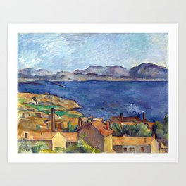 1885 - Paul Cezanne - The Bay of Marseilles, Seen from L'Estaque Art Print