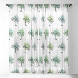 Tree pattern Sheer Curtain