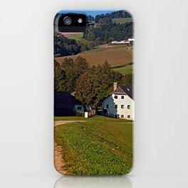 Beautiful traditional farmland scenery   landscape photography iPhone Case