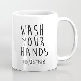 Wash Your Hands Bathroom Print Bathroom Decor Nursery Print Nursery Quote So Fresh And So Clean Coffee Mug