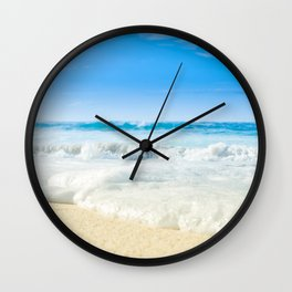 Aloha Beach Days Maui Hawaii Wall Clock