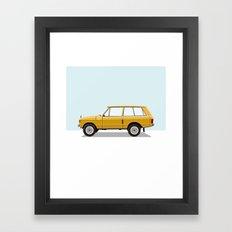 Yellow Range Rover Framed Art Print