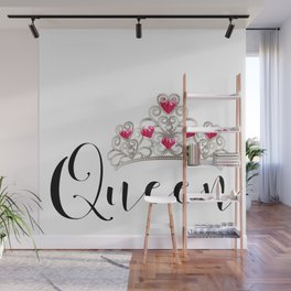 Queen matching couple valentine's day Wall Mural