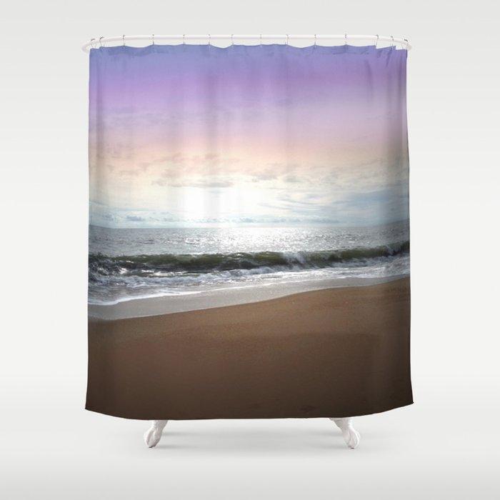 Light Pastel Seascape Shower Curtain