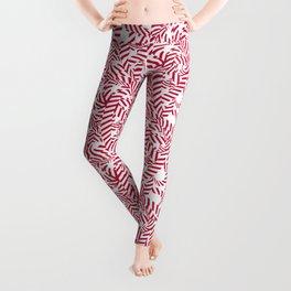 Candy cane flower pattern 7 Leggings