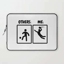 Handball Player Gift Idea Funny Stickmen Laptop Sleeve