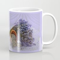 lavender Mugs featuring Lavender by Fran Walding