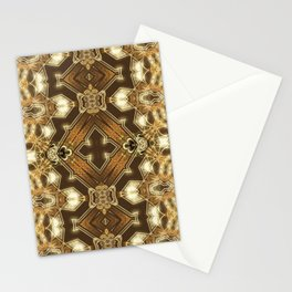 Golden Mali | Fractal Ruffles Stationery Cards