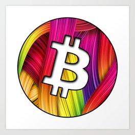Bitcoin magic colours Art Print