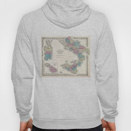 Vintage Map of Southern Italy (1855) Hoody