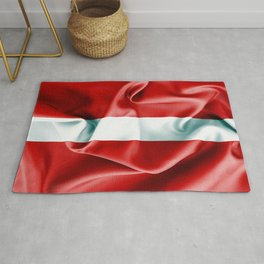 Latvia Flag Rug