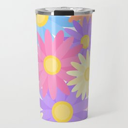 Floral Daisy Dahlia Flower Travel Mug