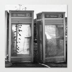Phone booths Canvas Print