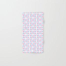 Oblique polka dot blue and pink Hand & Bath Towel