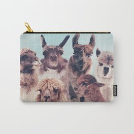 NEVER STOP EXPLORING - HAPPY FAMILY - ALPACA & LLAMA Carry-All Pouch