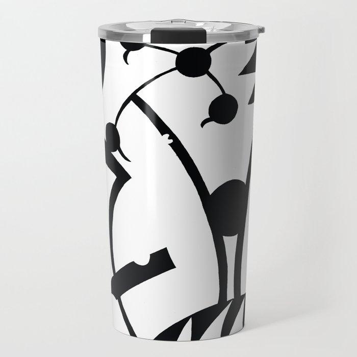 Abstract Jungle Travel Mug