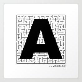 A-Maze-ing Art Print