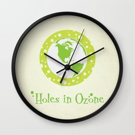 Holes in Ozone Wall Clock