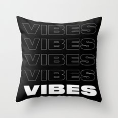 Vibes Typography Throw Pillow