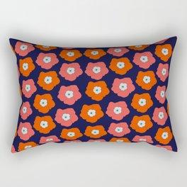Polka Flowers Rectangular Pillow