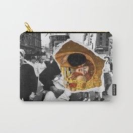 Times Square and The Kiss by Gustav Klimt and photographer Alfred Eisenstaedt Carry-All Pouch