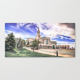 Bountiful LDS Temple Canvas Print