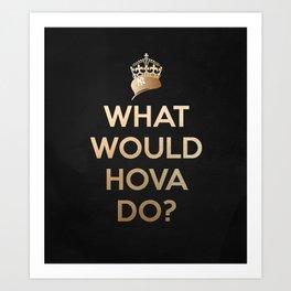 Hova V2 BLK Art Print