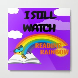Reading Rainbow Metal Print
