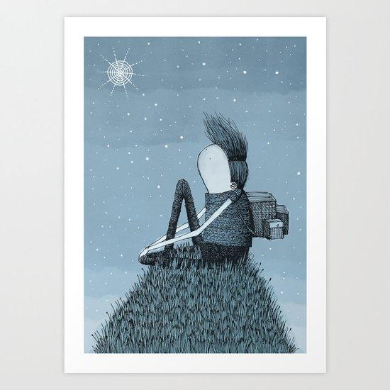 'Hill' Art Print