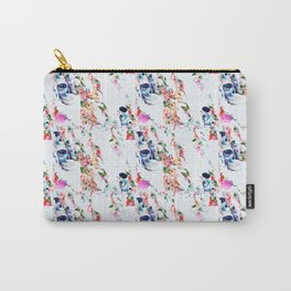 Muster Totenkopf und Blumen - Patterns Skull and Flowers Carry-All Pouch