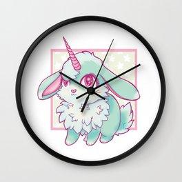 Mint Bunnicorn Wall Clock