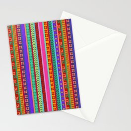Ethnic Peruvian Motif Striped Pattern Stationery Cards