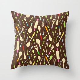 Wooden Wonders Throw Pillow