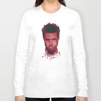 tyler durden Long Sleeve T-shirts featuring Fight club - tyler by Dr.Söd