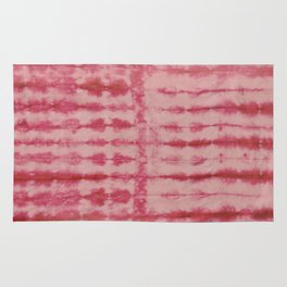 Red Pleated Dyed Rug