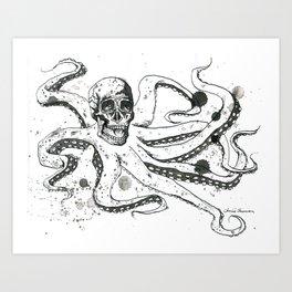 The Octoskull Art Print