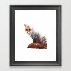 Misty Fox Framed Art Print