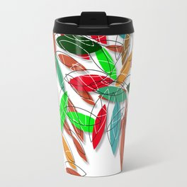 colored leaves Travel Mug