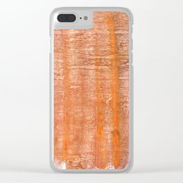 Rusty orange colorful wash drawing painting Clear iPhone Case