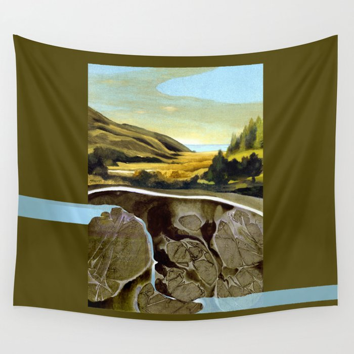 Down To The Sea Wall Tapestry